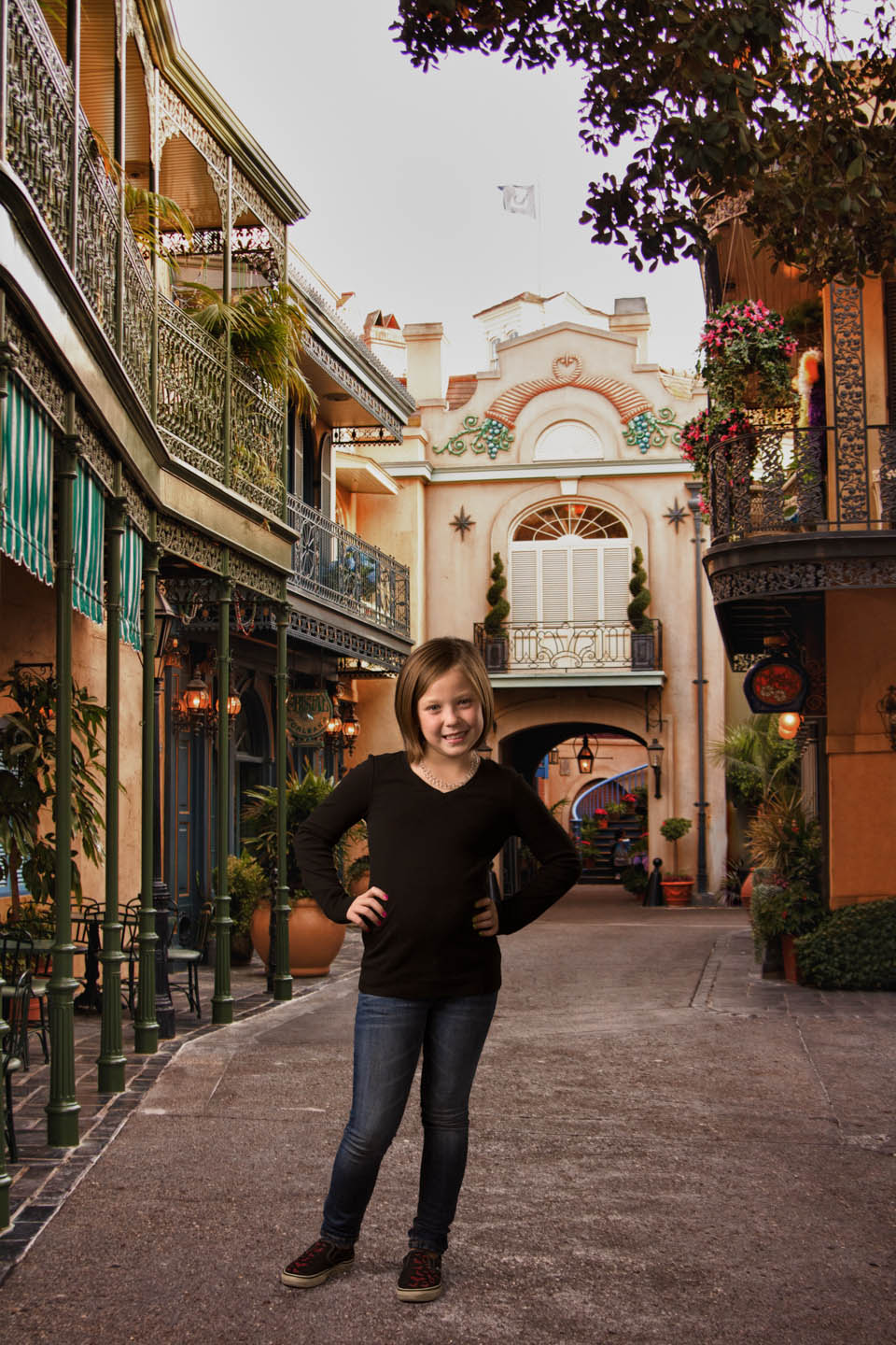 Photoshop Brin into Disneyland which was her favorite spot