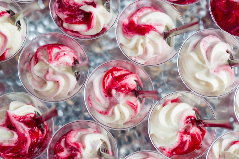 Raspberry dessert shot