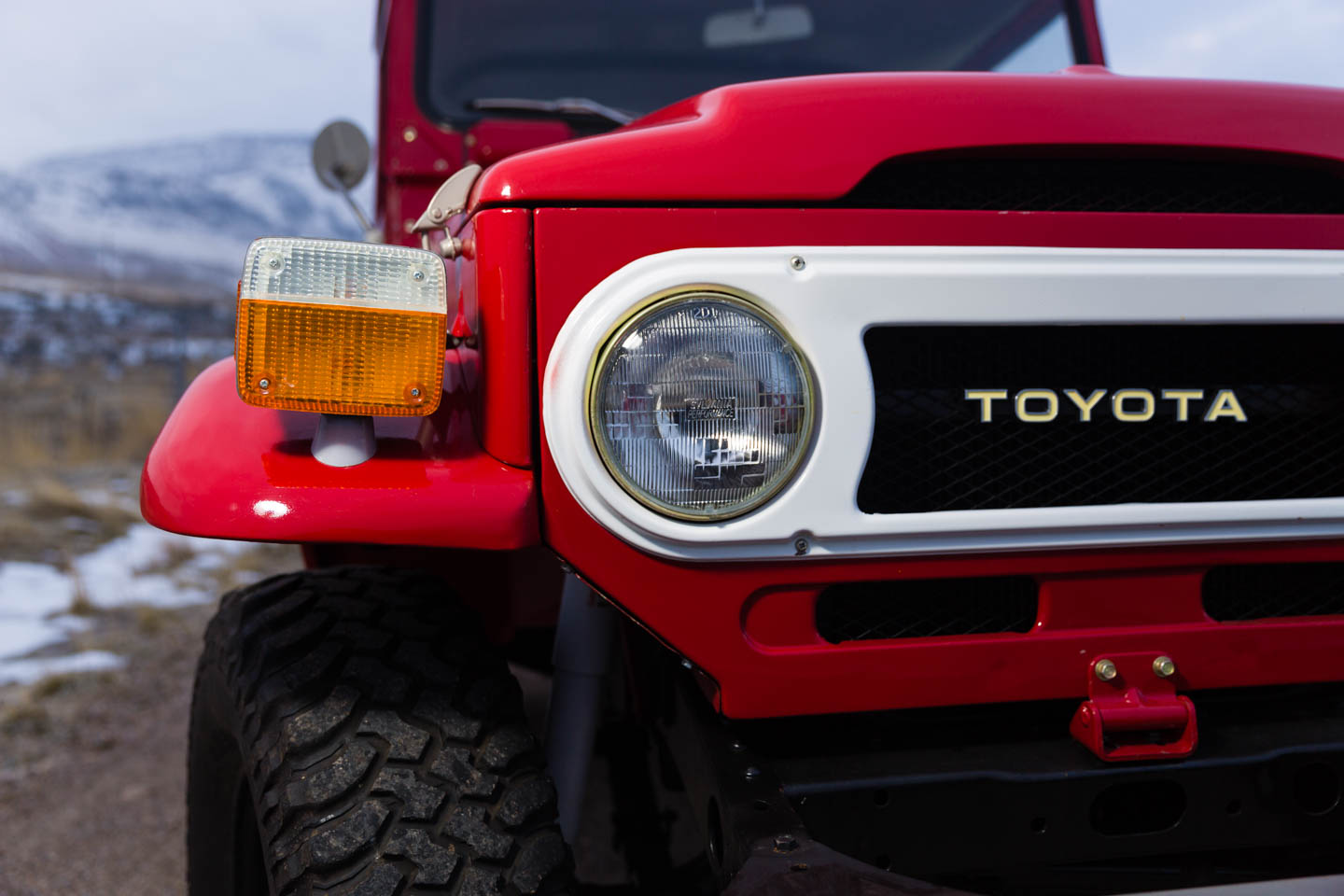 Closeup of the Toyota Land Cruiser