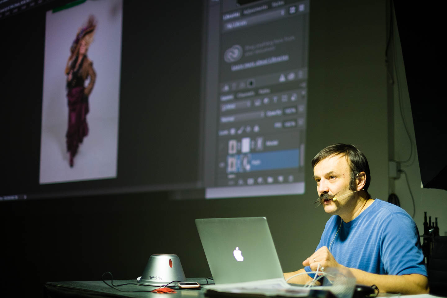 Vladimir teaches Photoshop compositing