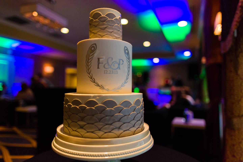Wedding cake at the Hotel Monaco