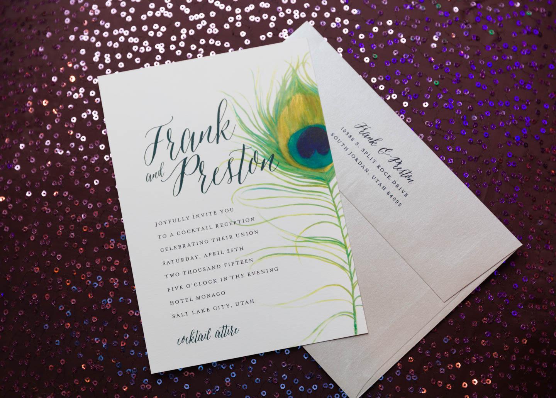 Wedding invitation for Preston & Frank