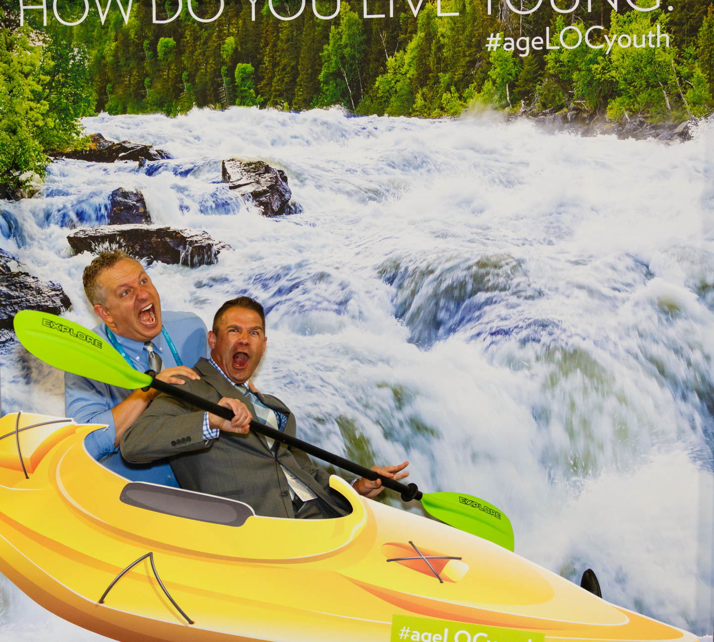I'm in a kayak! This was one of the photo booths