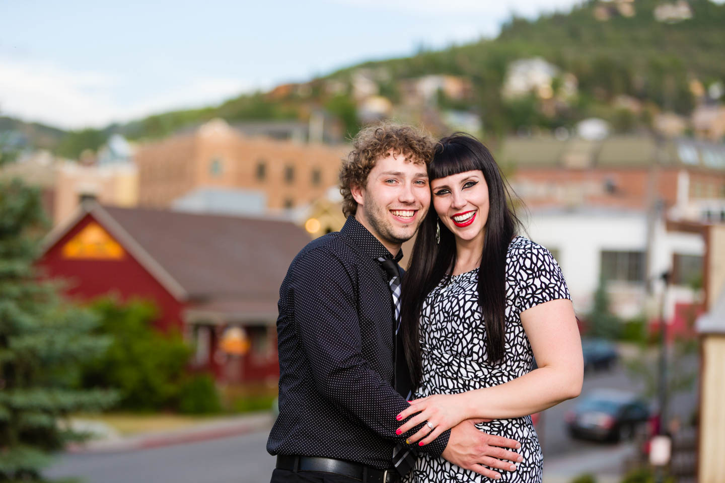 Engagement photos over Park City