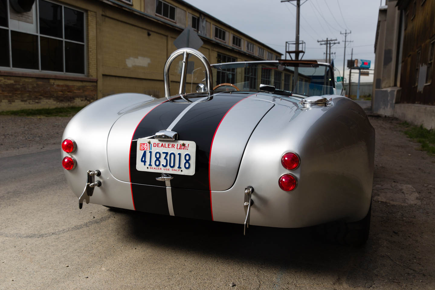 Back view of the Shelby Cobra