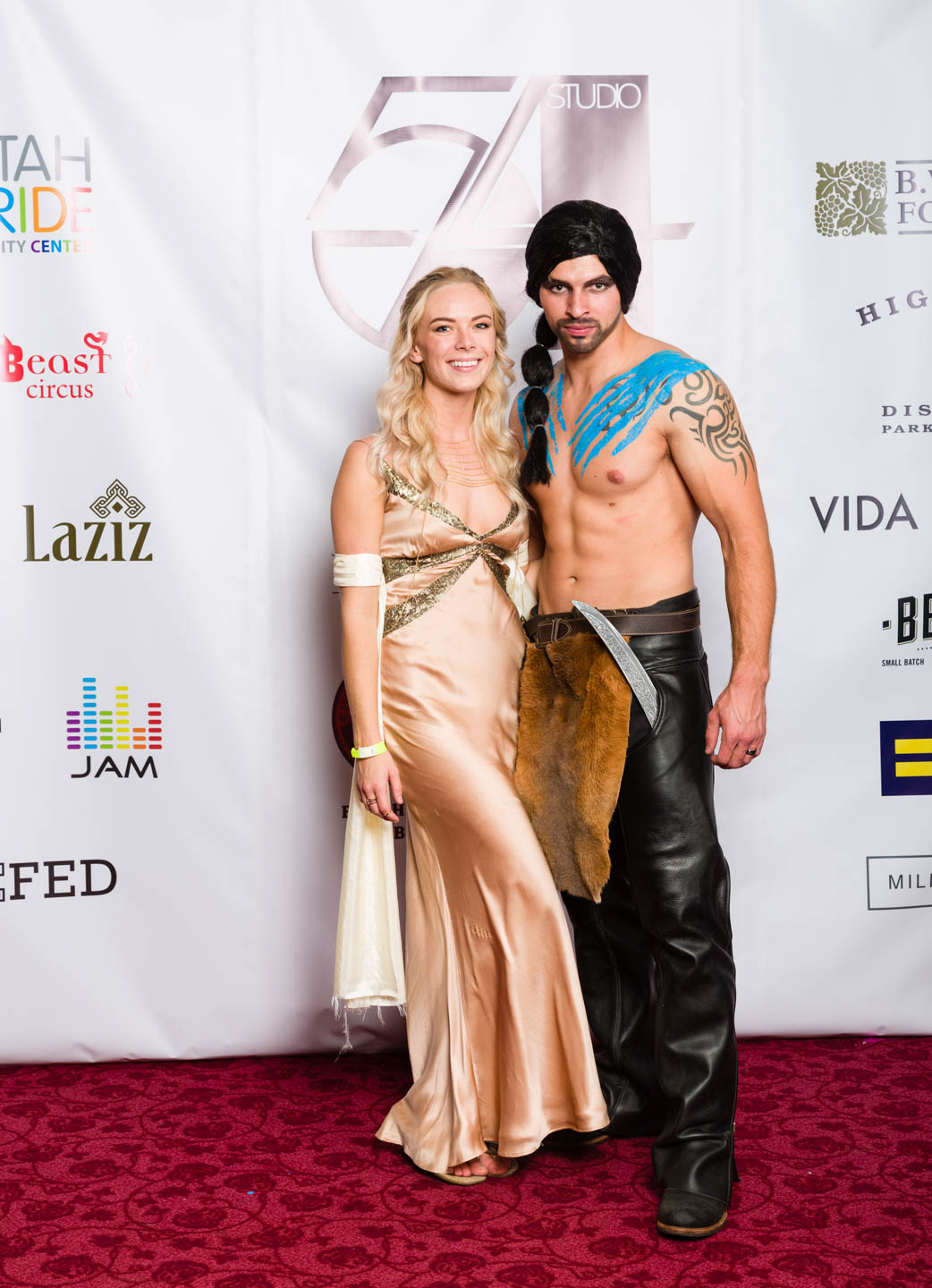 Khaleesi and Khal Drogo. And I photographed this couple's wedding