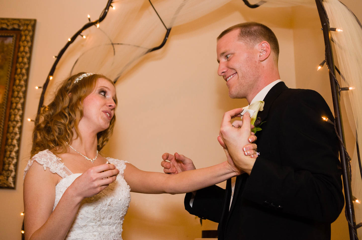 Bride begs groom not to smash the wedding cake into her face