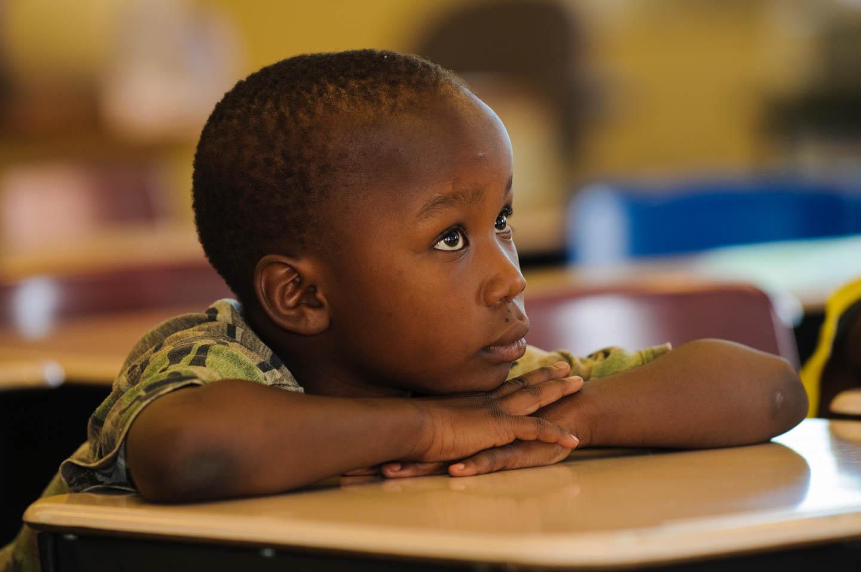 Student listens to the teacher