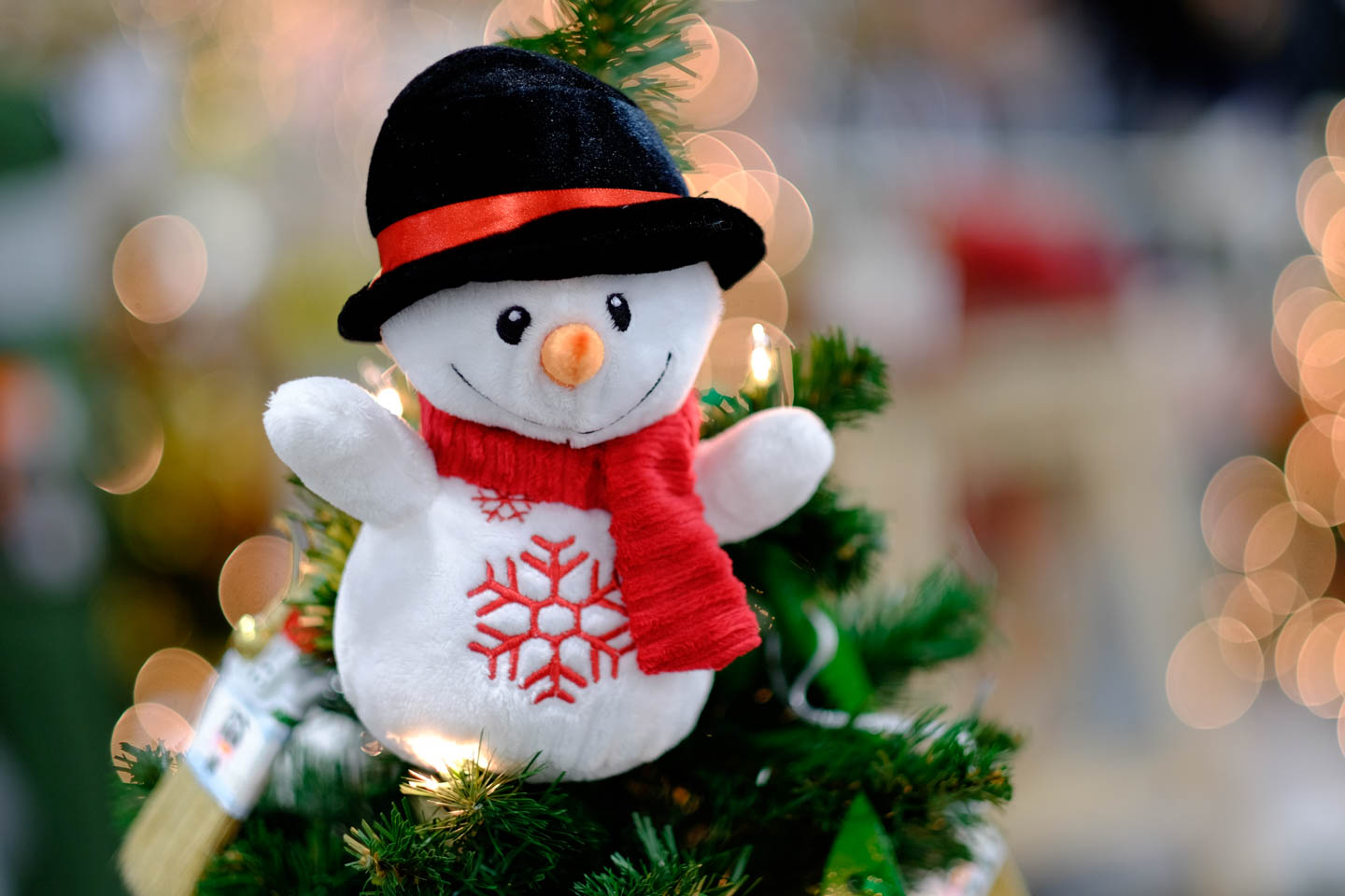 Frosty Christmas topper