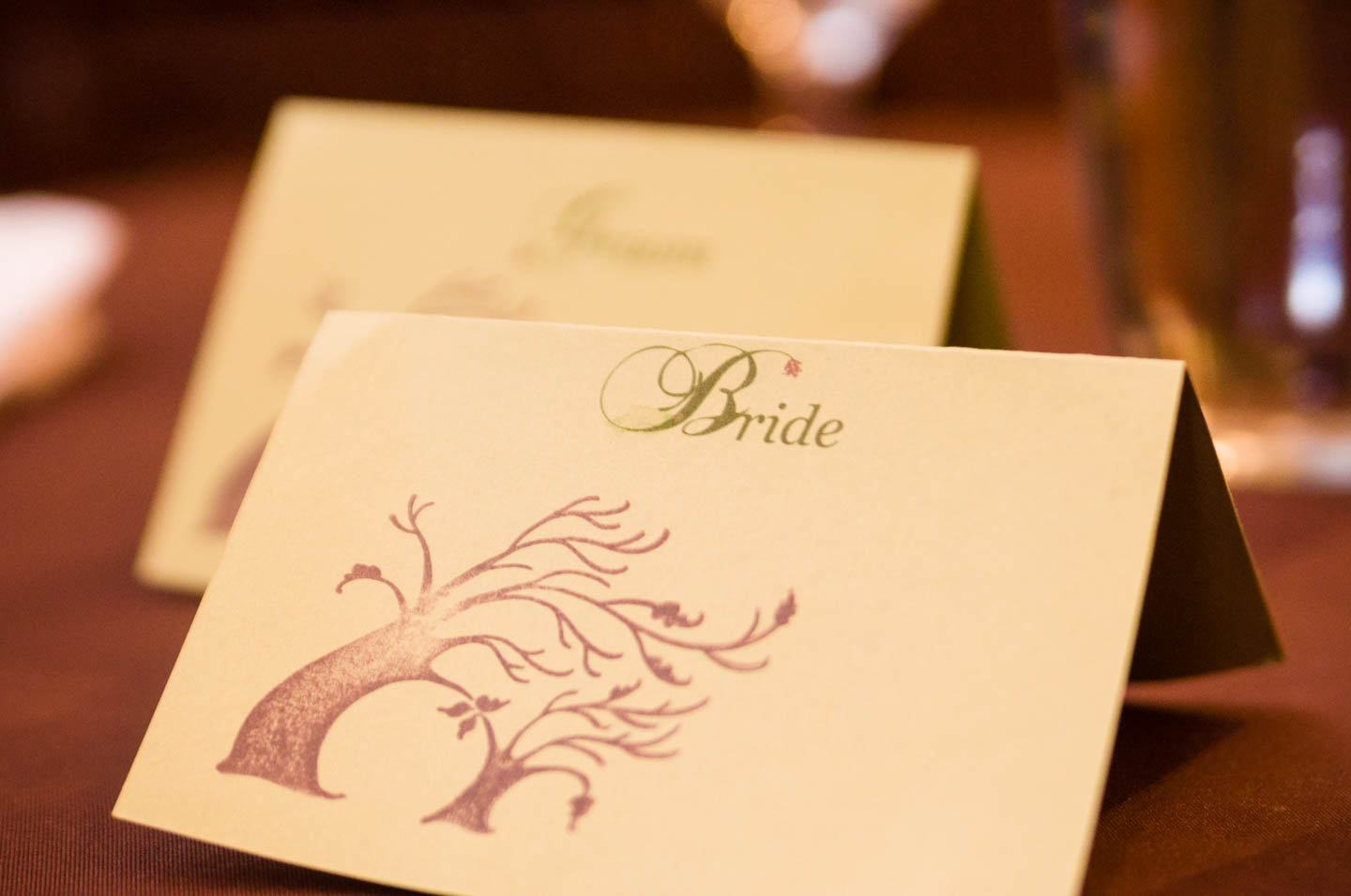 Bride's placemarker