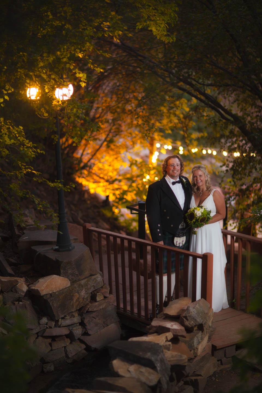 Formal wedding portraits at Rose Sachs Gardens