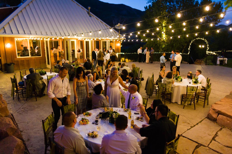 Wedding reception at Rose Sachs Gardens