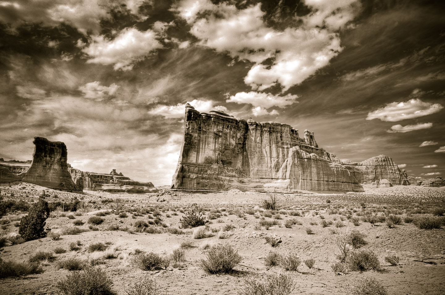 The Tower of Babel in Moab's Arches National Park