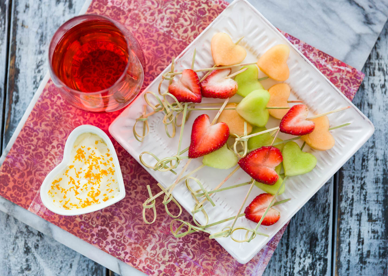 Heart Fruit Dip