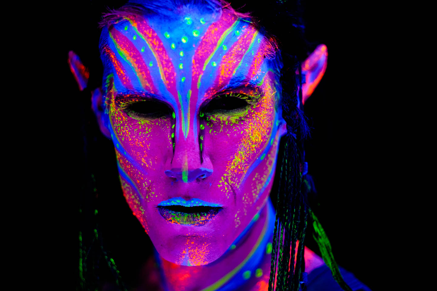 Models and Blacklight Photography, Oh My! | dav.d photography