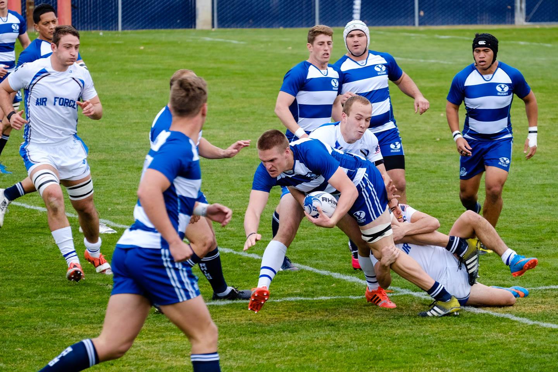 BYU Rugby runs the ball